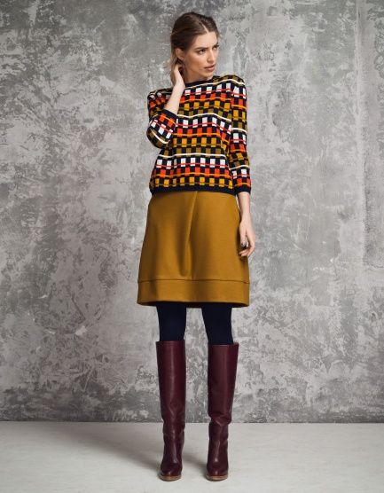 I want everything the model is wearing in this. Someone please buy it for me #dacmerciaurevoir! Skirt Shanice by Oilily