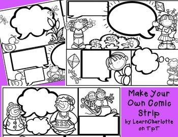 Practice punctuation, quotation marks, and dialogue by making your own comic strips!