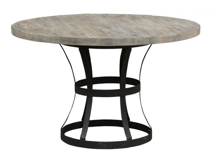 The Perfect Size With A Diameter, This Round Rustic Industrial Style Dining  Table Combines Modern Design And A Neutral Finish Table Top To Make This A  ...