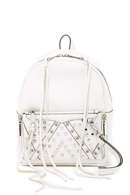 Image of Rebecca Minkoff Small Lola Leather Studded Backpack With Removable Wristlet
