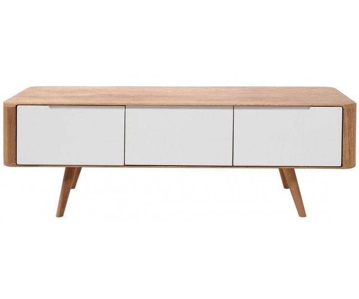 lowboard eiche wei sideboard tv schrank k che haushalt interior pinterest tvs. Black Bedroom Furniture Sets. Home Design Ideas