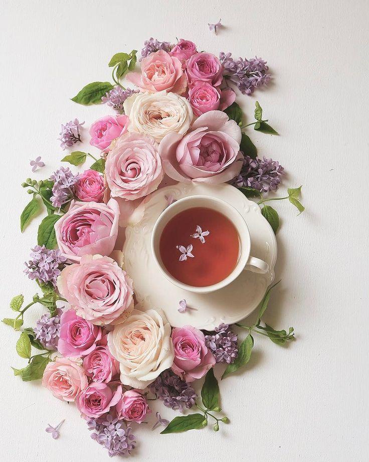 настройках картинки с добрым утром роза и чай занял