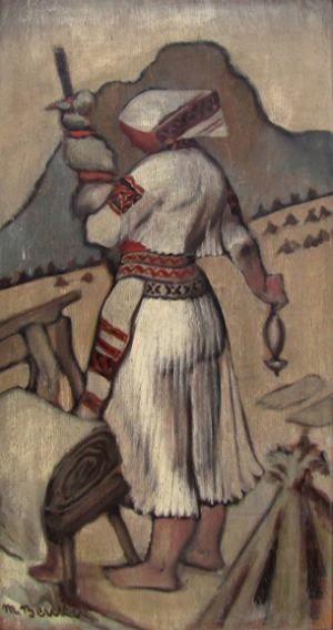 DARTE AUKČNÁ SPOLOČNOSŤ s.r.o., obrazy, starožitnosti, umenie, umelci, výtvarné diela, online aukcia, aukcie, dražby -1932 Priadka z Čičmian