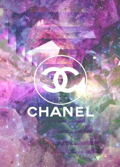 Purple Glitter Galaxy CHANEL Wallpaper ♥♥♥ WALLPAPERS