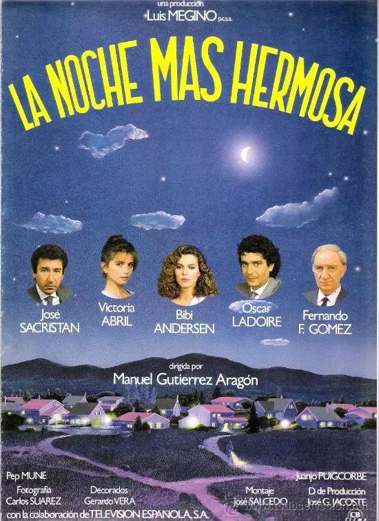 """""""La noche más hermosa"""" (Manuel Gutierrez Aragón, 1984) con José Sacristán, Victoria Abril y Fernando Fernán Gómez"""