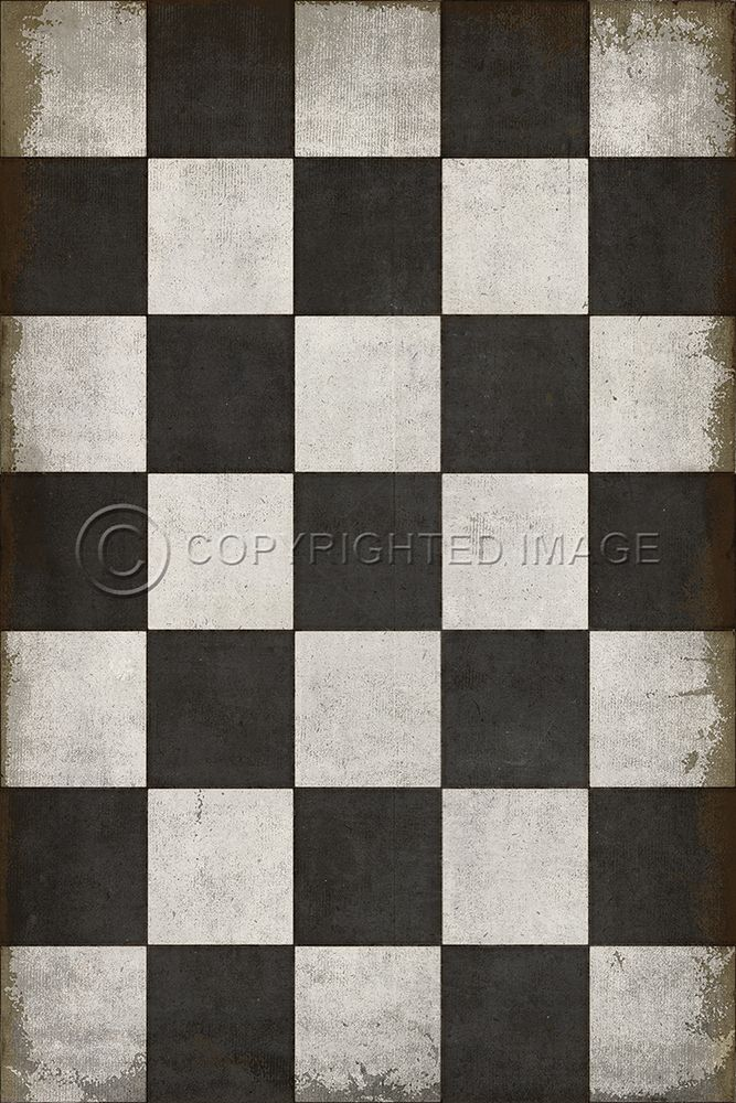 Pura Vida Home Decor Pattern 7 Checkered Past Vinyl Floor Cloth
