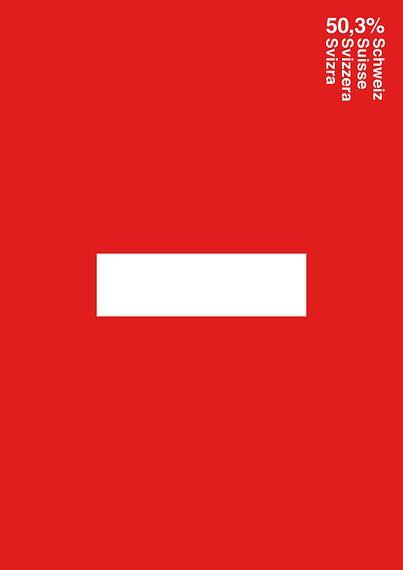 """50,3% Schweiz"" (Digitaldruck, Kategorie ""Autorengrafik"")– dasauge® Aktuell"