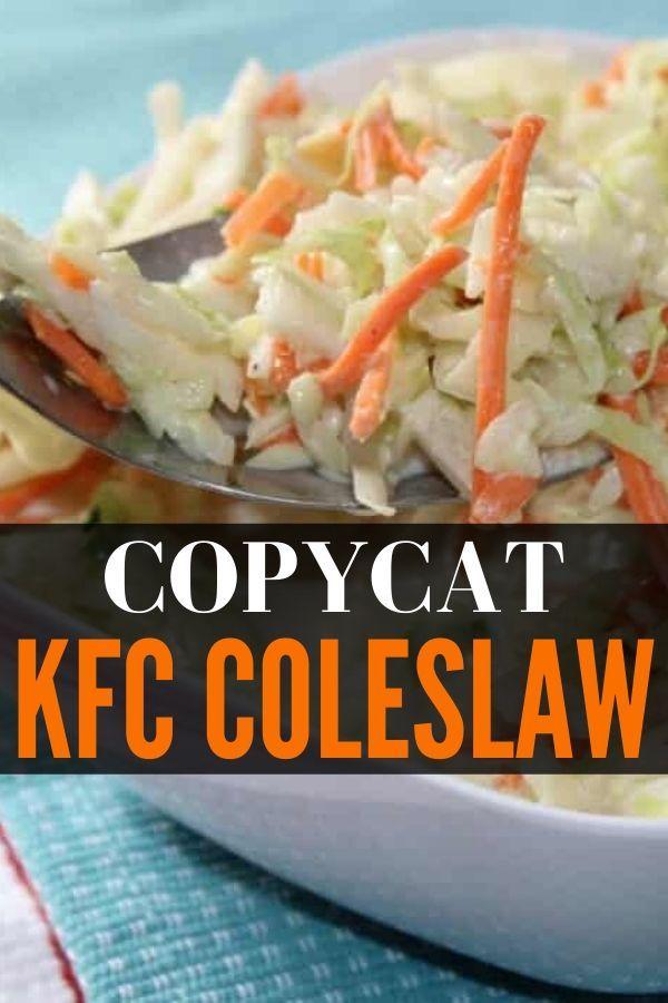 Copycat Kfc Coleslaw In 2020 Coleslaw Recipe Easy Kfc Coleslaw Kfc Bowls Recipe