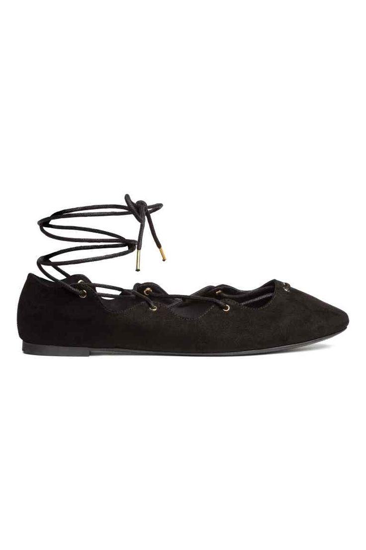 平底吉利鞋 - 黑色 - 女士 | H&M CN 1
