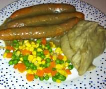 Clone of Bangers and Mash with Mushroom sauce