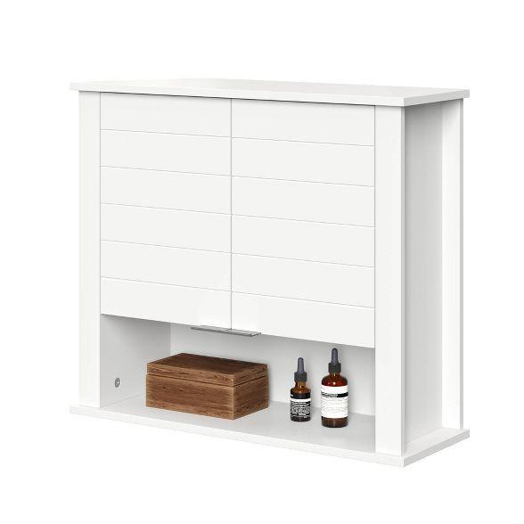 Modern Hanging Storage Cabinet White Bathroom Furniture Storage Wall Mounted Cabinet Hanging Storage