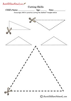 Cutting Shapes cutting triangles