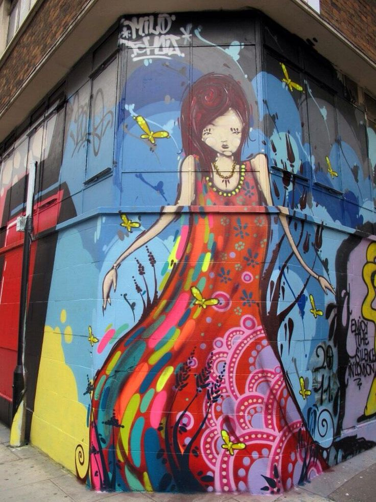 Artist Milo Tchais character Street Art piece in London #art #graffiti #mural…