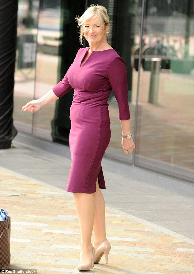 Strictly scared: Carol Kirkwood has revealed that she is hoping to avoid short skirts as she hates her legs