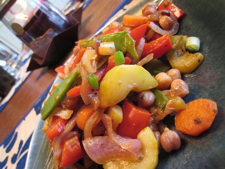 chick pea stir fry   food   Pinterest
