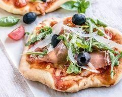 Mini pizzas au jambon de parme