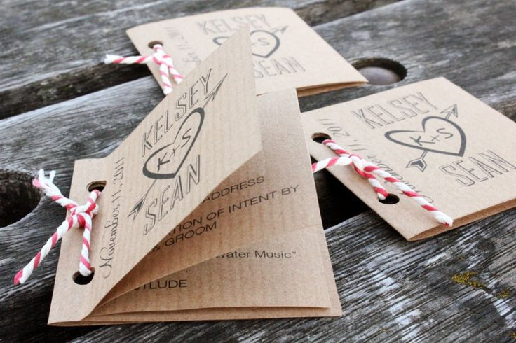 Mini programme mariage - Déco mariage DIY | Blog mariage, Mariage original, pacs, déco