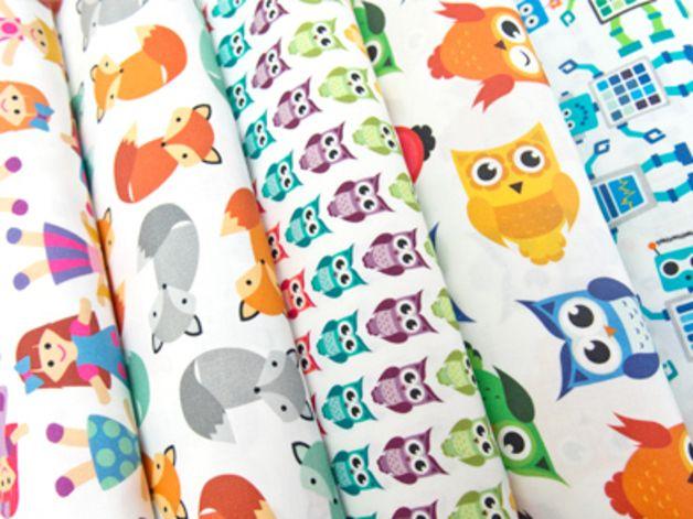 Bawełna 100% LISKI - mcolors - Tkaniny dla dzieci