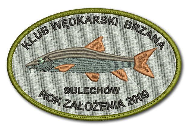 Naszywka Klub Wędkarski Brzana Sulechów Rok Założenia 2009