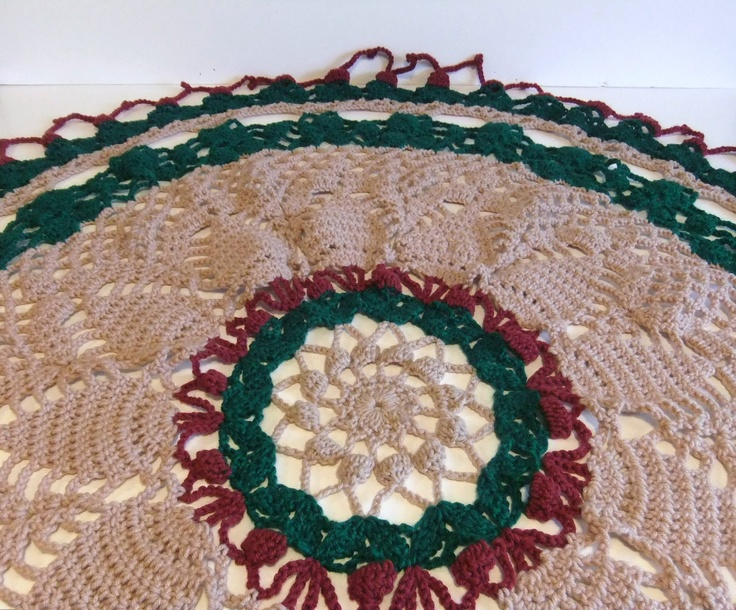 Round crocheted Tablecloth. Thanks so much