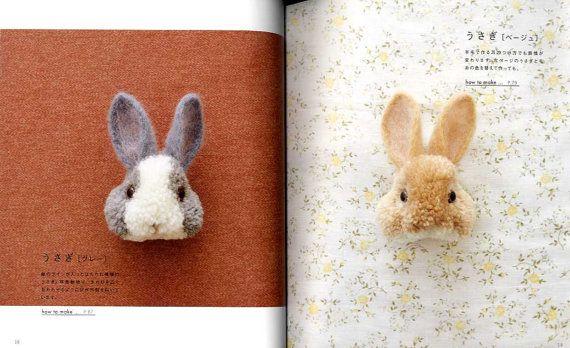 Pom Pom lindo animales de Trikotri libro de arte por pomadour24