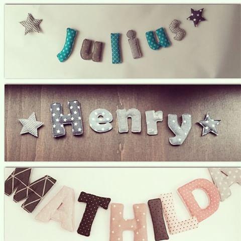 Die besten 17 ideen zu stoff buchstaben auf pinterest Buchstaben deko kinderzimmer
