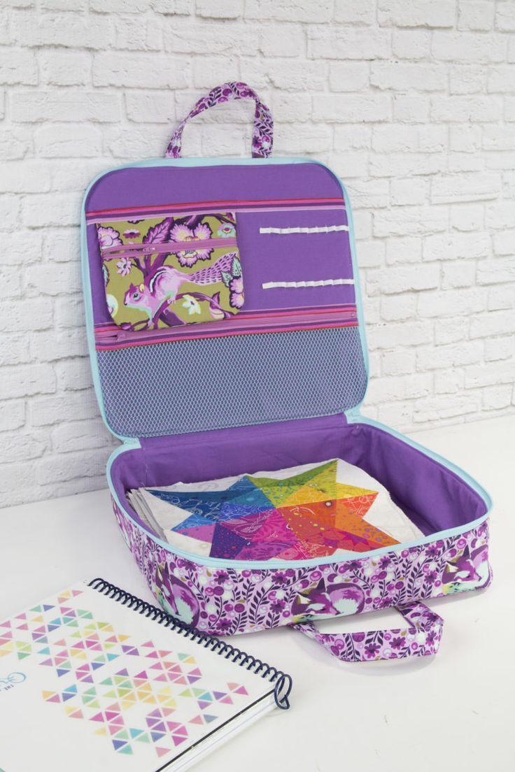 New Pattern:  Sew Sweetness Amethyst Project Bag sewing pattern