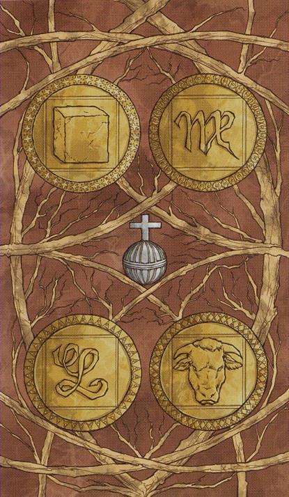 Resultado de imagem para 4 of coins tarot
