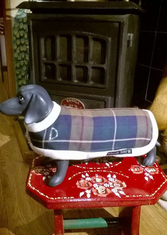 Dog coat scottish tartan waterproofreversable by stitchmilitz