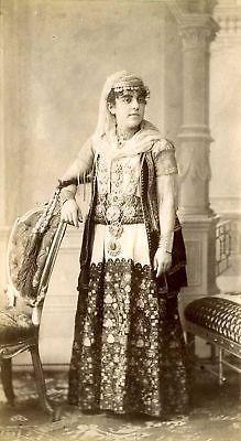 GRECE-GREECE-JEUNE-FEMME-ETHNIQUE-albumine-c-1890