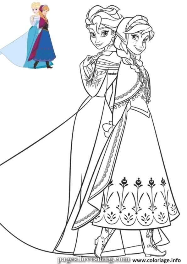 Incredible Shade Anna And Elsa In Lovely Clothes With Snow Queen Print Elsa Coloring Pages Disney Princess Coloring Pages Frozen Coloring Pages