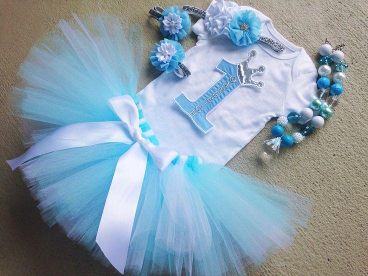 Cinderella Tutu Outfit- Light Blue Princess Tutu Birthday Outfit - Includes: Tutu, Necklace, Headband, Barefoot Sandals, Iron-On by BabySquishyCheeks on Etsy https://www.etsy.com/listing/199404066/cinderella-tutu-outfit-light-blue