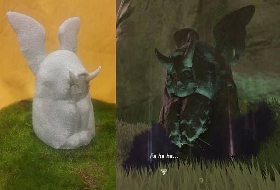 Naughty Hateno Goddess Statue  Definitely Not Goddess Hylia  #zelda #majorasmask #breathofthewild #botw #triforce #gizmoforge #ganondorf #link #ocarinaoftime #mipha #divinebeast #hylia #hyrule #hateno #shrine