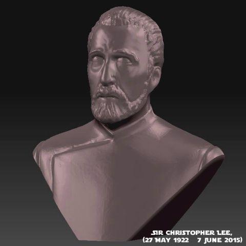 3D printed Sir Christoper Lee Memorial Bust (1922 - 2015), Geoffro