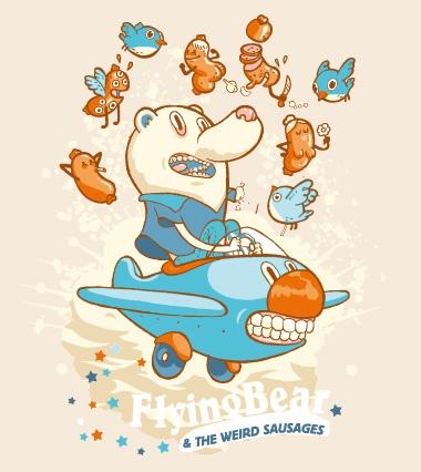 Flying bear | Illustrator: FrigoBanjo