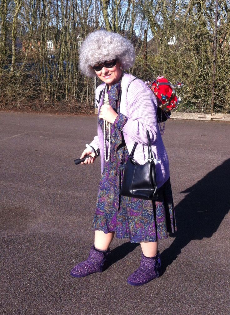 Gangsta Granny dress-up for World Book Day. The kids loved it!