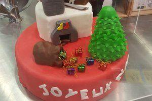 Démonstration à zodio Caen: gâteau sur le thème de Noël