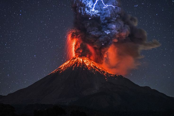 These incredible images capture the moment a lightning bolt struck an erupting volcano.  A graphic designer camped out in freezing cold conditions to snap a shot of an erupting volcano – only for a volcanic lightning bolt to strike the lava spurt and make the image even better.