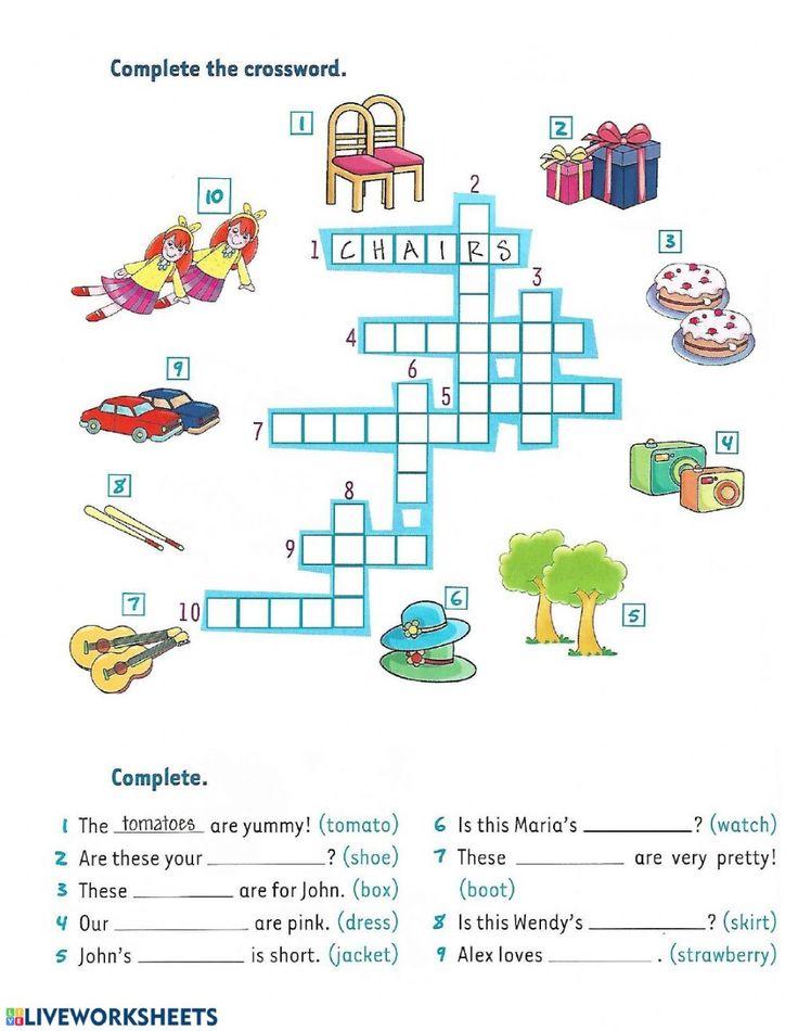 Singular and Plural Interactive worksheet in 2020