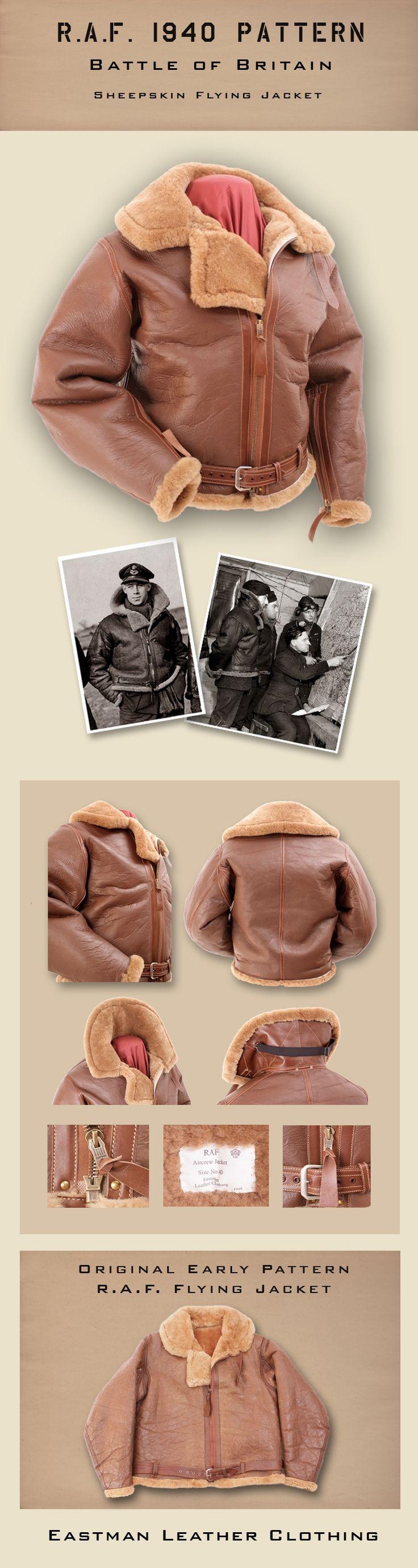 Eastman Leather Irvin flight jacket, 1940 Pattern, Battle of Britain