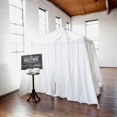 A guest box instead of a guest book, where guests can record a message on video.