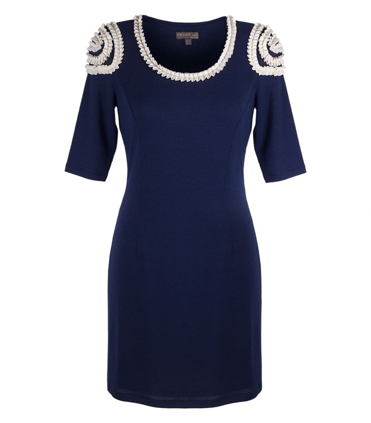 Fever - Tabitha Dress in Navy - FINAL SALE - Evening Dresses - Australian and International Designer Women's Fashion. Stockists of Collette by Collette Dinnigan, Camilla, Rachel Gilbert, Red Valentino, Peter Lang, Alex Perry, Dion Lee, Josh Goot, Magdalena Velevska and more.Josh Goot, International Design, Dion Lee, Collections Dinnigan, Fabulous Fashion, Dresses, Alex Perry, Design Women, Final Sales