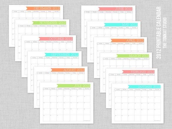 blank calendars for lesson planning, behavior charts, etc: 2012 Calendar, Printables, Behavior Charts, Calendar Templates, Tomkat Studios, Calendar Free, Printable Calendars, 2012 Printable, Free Printable Calendar