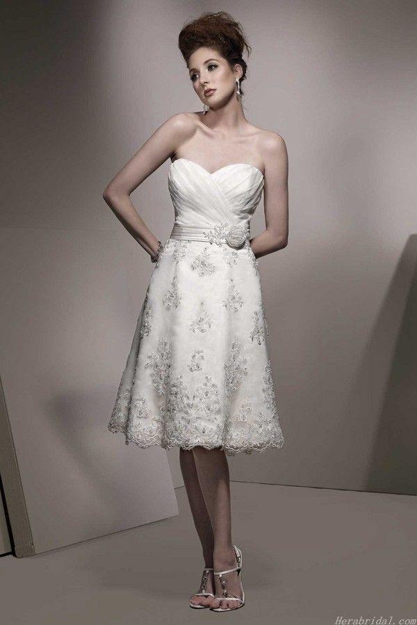 133 best Short Wedding Dresses images on Pinterest | Wedding frocks ...