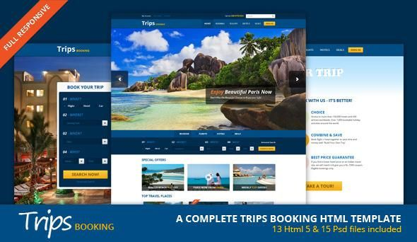 ThemeForest – Trips Booking HTML5 Template – RIP