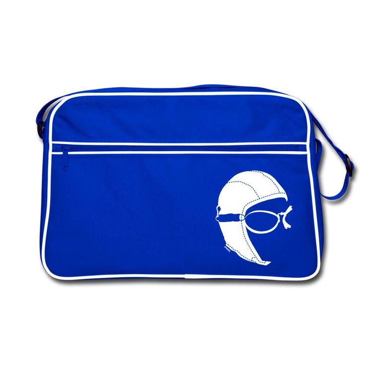 The #Aviator #Retrò #Bag Blue by JPAERO Online only on  https://shop.spreadshirt.it/jpaero/-A106966565  #pilots #avgeek #shopping #vintagestyle #manbag #accessories #accessori #fashion #cockpit #retrobag #male