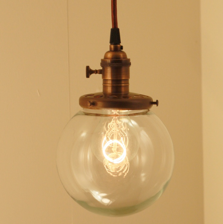 Pendant Light With 6 Glass Globe Shade and by lucentlampworks