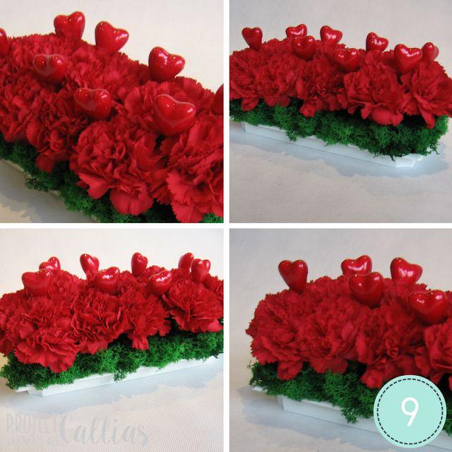 ProjectGallias dla D.I.Y. czyli zrób to sam: DIY: Romantyczna dekoracja; #projectgallias, kurs, DIY, howto, dekoracja kwiatowa, walentynki, czerwony