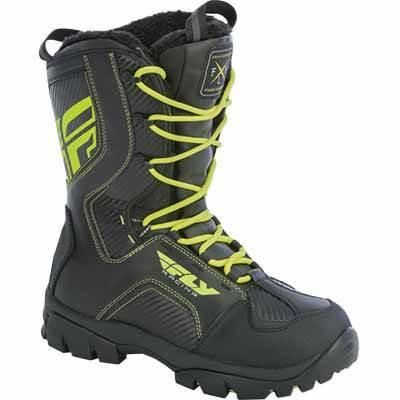 FLY Snow Marker Snowmobile Boots Black-Hi-Vis