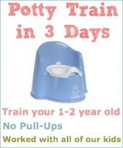 ??Potty Train in 3 days Be sure to read other peoples' comments under the post.